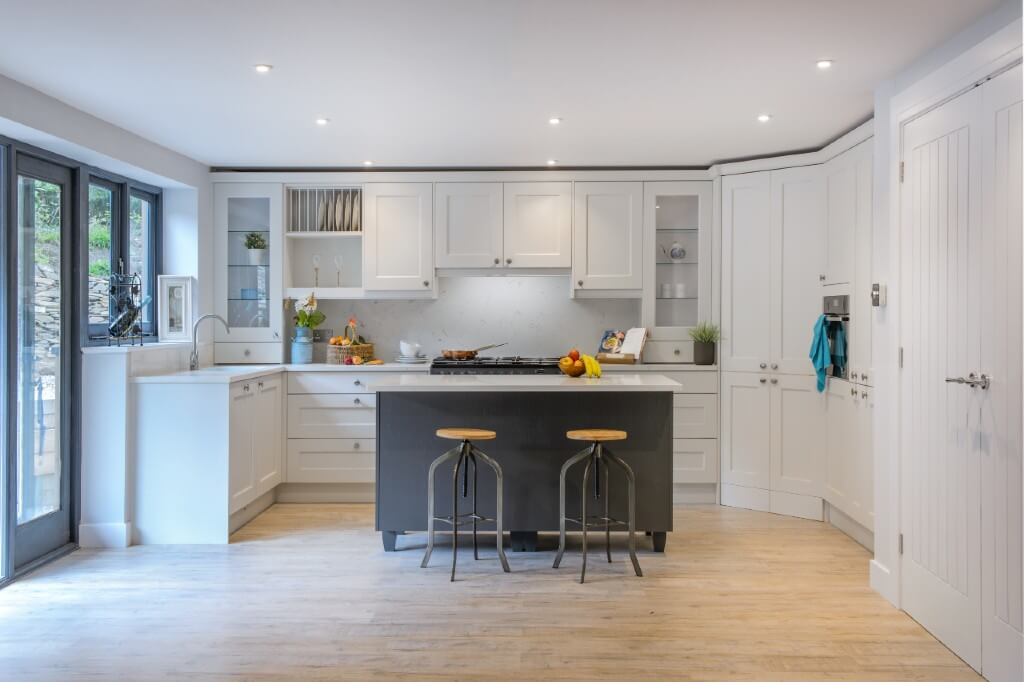 Past Projects - Shaker style kitchen was painted in Farrow & Ball