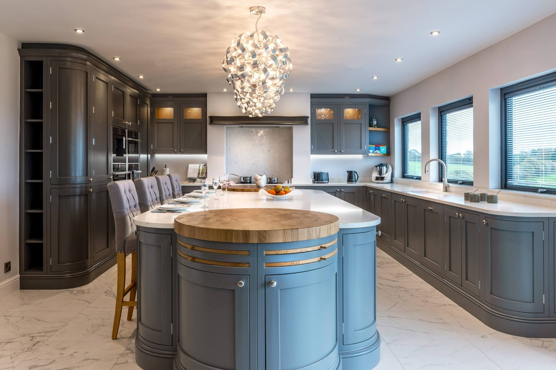 Past Projects - Shaker Kitchen Finished In Lava Palette