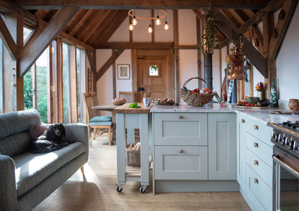 A charming rustic kitchen