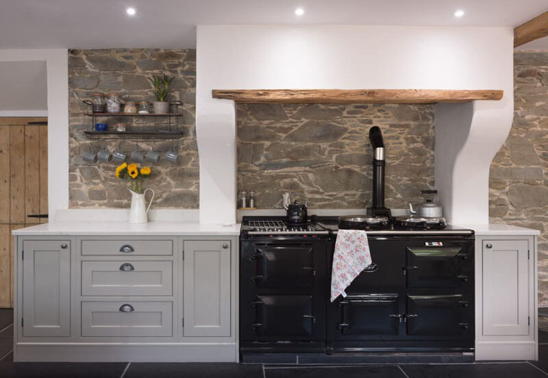 Traditional AGA cooker in farmhouse kitchen