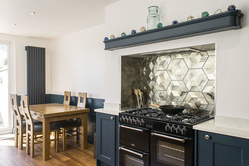 Traditional kitchen with modern touches