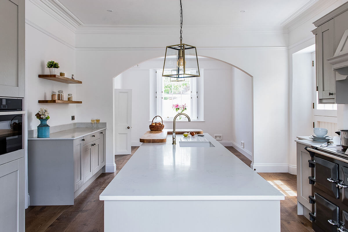 Past Projects: A classic shaker-inspired kitchen in our client's Georgian home
