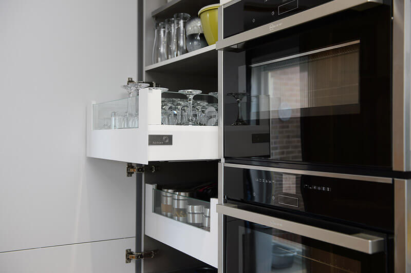 Bespoke storage solution for small kitchen