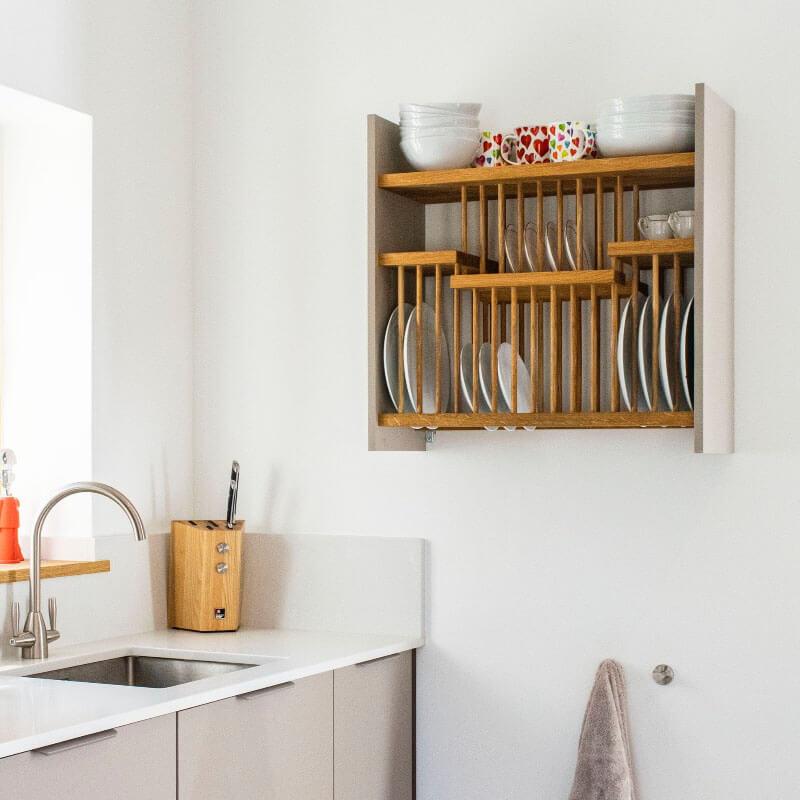 bespoke wall-mounted plate rack