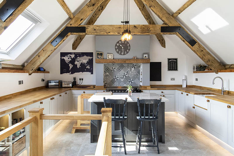 A new solid ash kitchen from Kettle Co