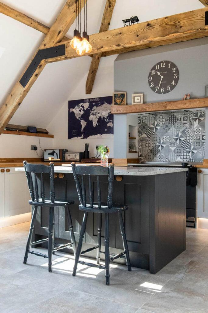 The two-tone kitchen island